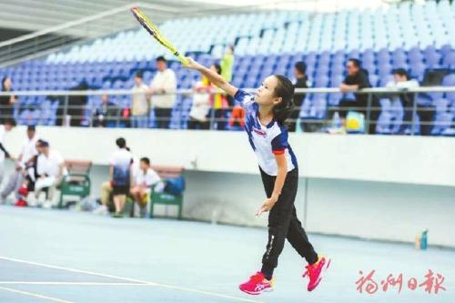 仓山小将市运会上席卷3枚网球金牌