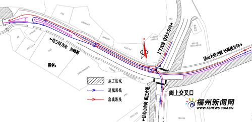 洪山桥左幅桥西桥头启动改造 21日起闽江大道进城要左转绕行上高架