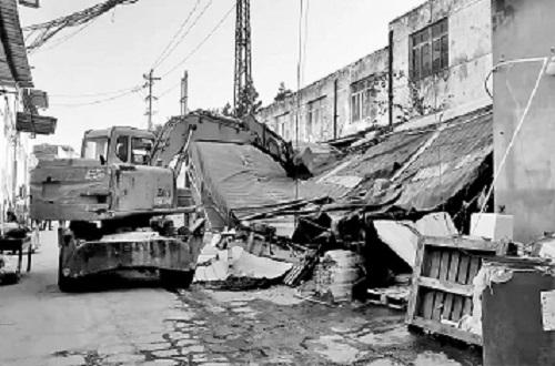 仓山区两处新增违建被拆 总面积约150平方米