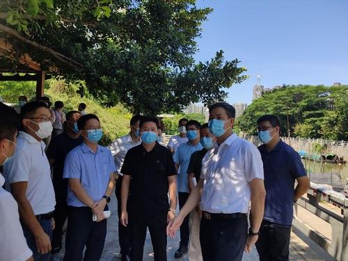"""倉山區黨政主要領導帶隊開展""""河長日""""巡河活動"""